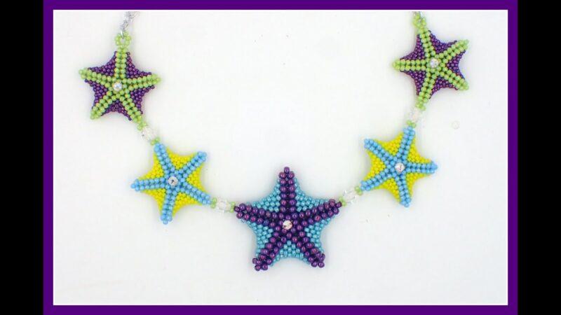 Beaded Starfish necklace
