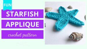 Crochet Starfish Applique Tutorial