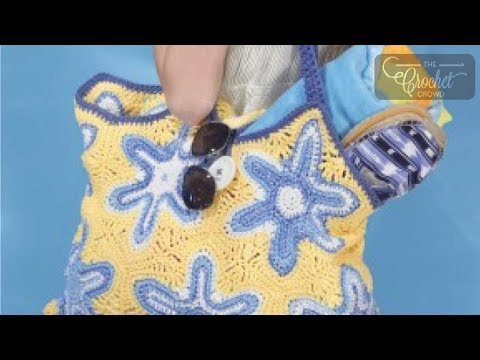 Crochet Starfish Beach Bag | INTERMEDIATE | The Crochet Crowd