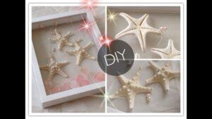 DIY : Creative Starfish & Pink Crystals Wall Frame