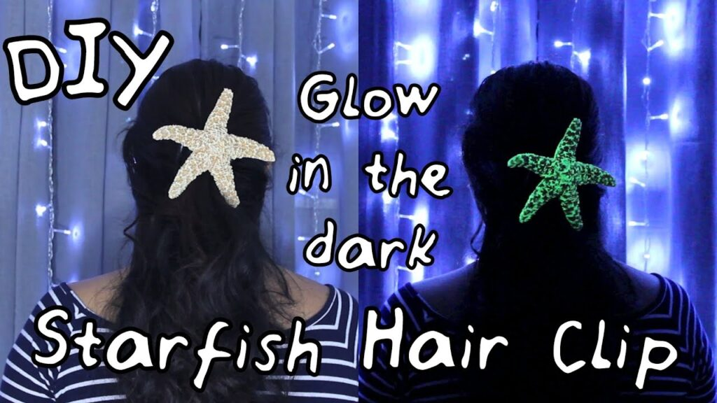 DIY Glow-in-the-dark Starfish Hair clip | #DIYwithJhoy