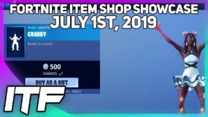Fortnite Item Shop *NEW* STARFISH SET AND CRABBY EMOTE! [July 1st, 2019] (Fortnite Battle Royale)