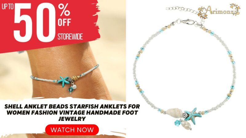 Grab This Shell Anklet Beads Starfish Anklets For Women Fashion Vintage Handmade Foot Jewelry