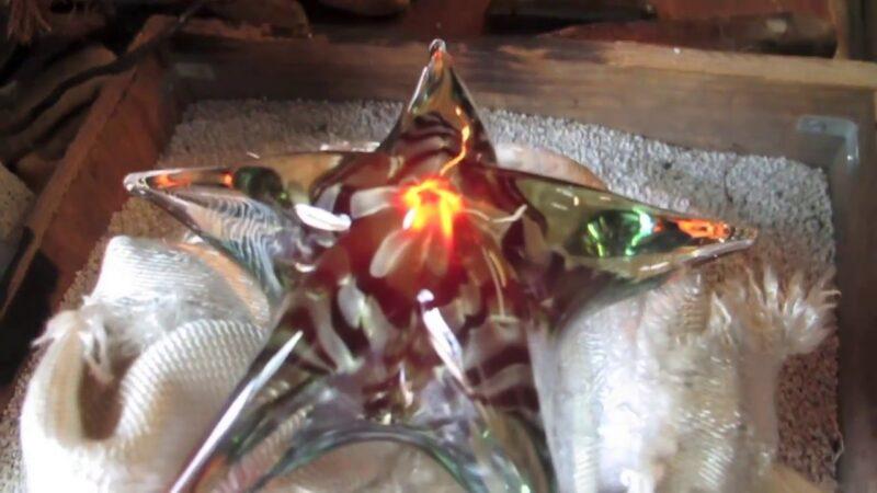 Hand Blown Glass Sea Star - Anchor Bend Glassworks