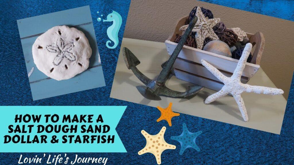 How to Make a Salt Dough Sand Dollar & Starfish   Coastal Beach Decor