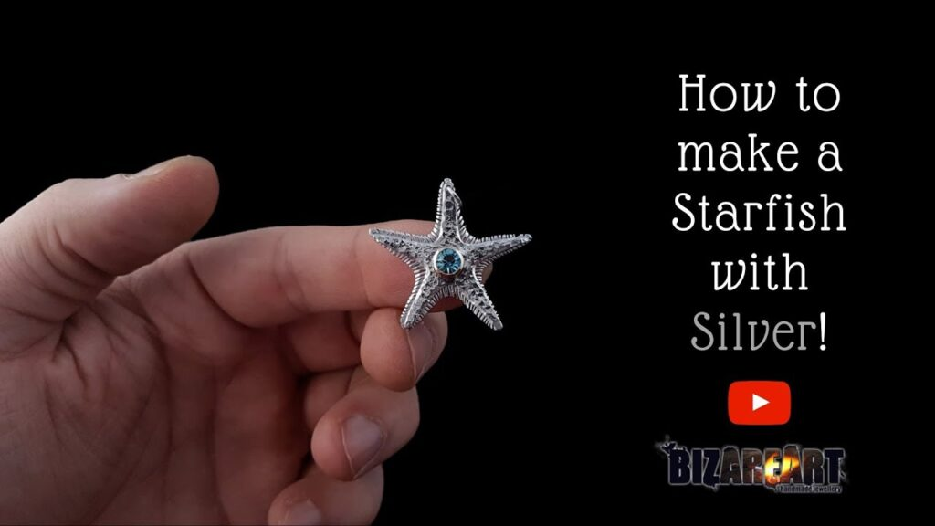 How to make a Silver Starfish Necklace with silver all by hand ep57!