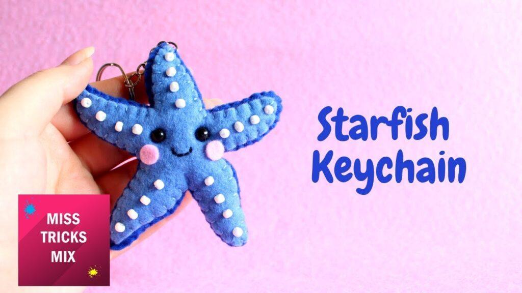 Kawaii Starfish Keychain Plush DIY Tutorial.