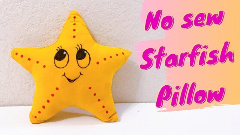 No Sew Starfish pillow using T-shirt | Upcycling Tshirt ideas | Creative ways to reuse old Tshirt