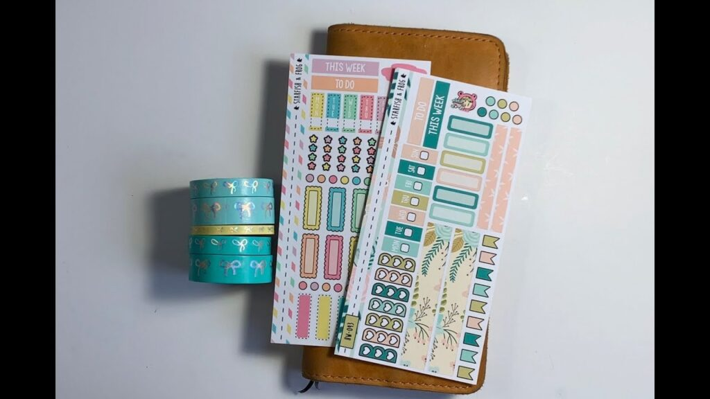 PLAN WITH ME Hobonichi Weeks feat. Starfish and Frog stickers