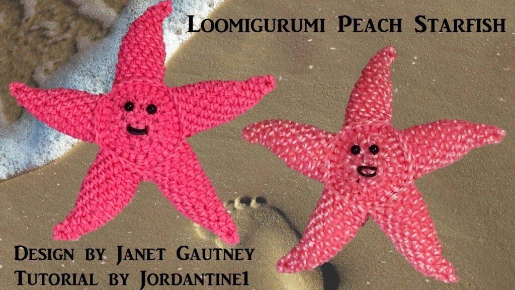 Peach Starfish Loomigurumi Amigurumi Rainbow Loom Band Crochet Hook Only Finding Nemo Лумигуруми