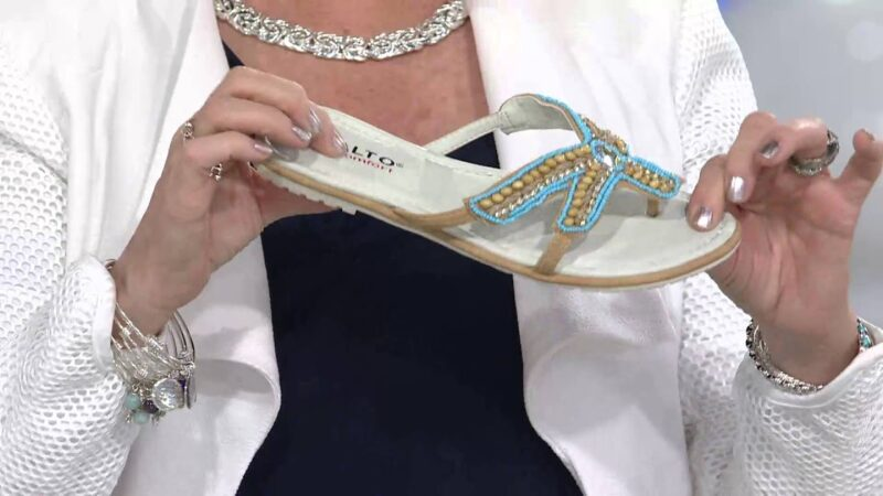 Rialto Thong Sandals with Beaded Starfish Design - Starfish with Jane Treacy