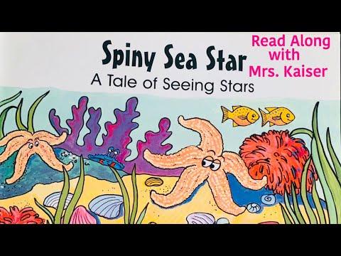 SPINY SEA STAR (a tale of shiny stars) PREK READ ALONG BOOK ocean | sea life