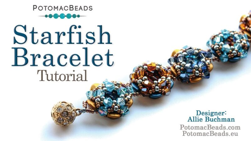 Starfish Bracelet- DIY Jewelry Making Tutorial by PotomacBeads