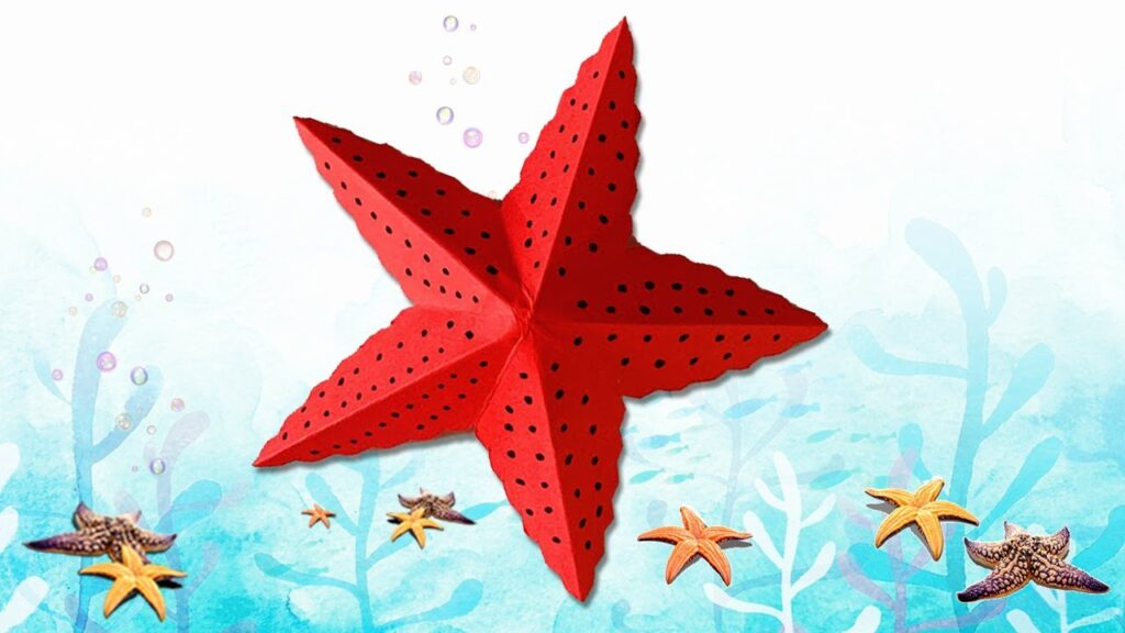 Starfish   How to fold an Origami Starfish   Simple Origami For Kids