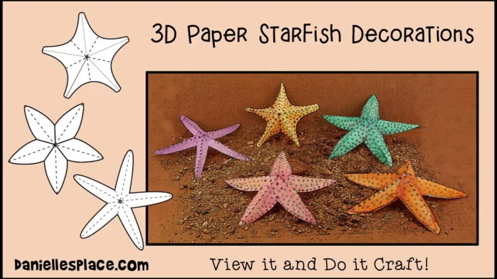 Starfish Paper Craft Decorations – View it and Do it Craft!
