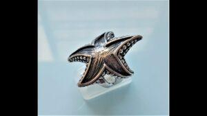Starfish Ring Ocean Star Sea Nautical Talisman Gift STERLING SILVER 925