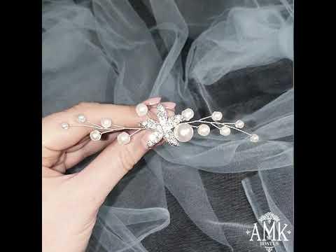 Starfish hair pins, starfish hair accessories, bridal hair pin