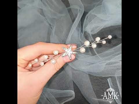 Starfish wedding accessory, silver starfish