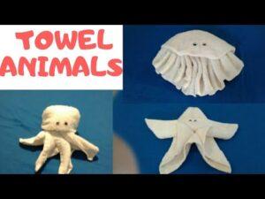 Towel Animals.Octopus, jellyfish & Seastar. 2